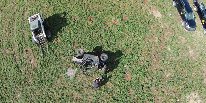 Officers investigate an ATV crash near Plymouth. (Photo provided)