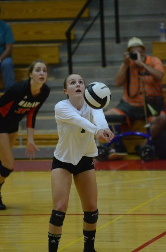 Sophomore libero Erin Peugh led Warsaw with 20 digs.