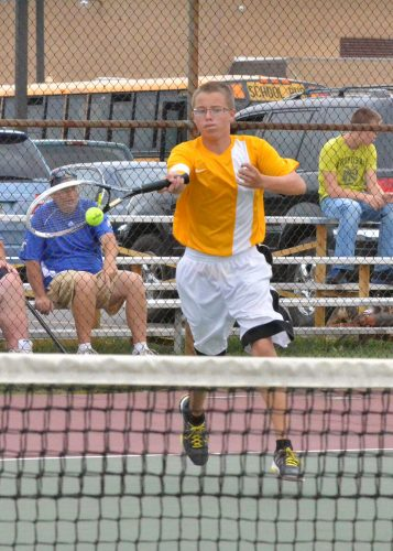 Senior Mace Eads is set to lead a young Triton tennis team this fall (File photo by Nick Goralczyk)