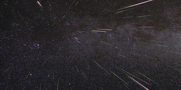 """A time-lapse image from NASA shows a meteor """"burst"""" from 2009. (Photo by NASA/JPL)"""