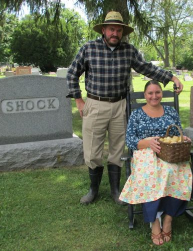 Enactors Cara, right, and Eric Erlenweing portrayed Cara's great-grandparents Minnie and Ezra Shock (1895-1988/1889-1980) during the 2015 North Webster Cemetery Walk sponsored by the North Webster Community Public Library's Local History and Genealogy Center. The 2016 event is scheduled from 1-3 p.m., Sunday, Sept. 11 and will depart from the library, 301 N. Main St. (Photo provided)