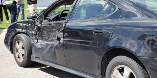 The car involved received damage to the front driver's side of the vehicle.