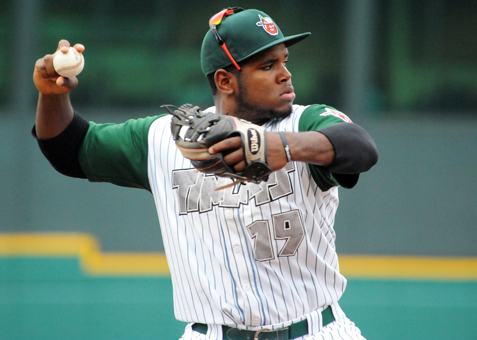Fort Wayne's Carlos Belen was named the Midwest League Player of the Week. (File photo by Mike Deak)