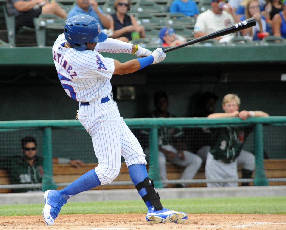 South Bend outfielder Eddy Martinez was named the July Player of the Month by the Chicago Cubs organization. (Photos by Mike Deak)
