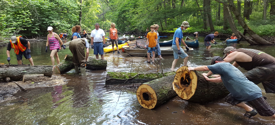 A group of volunteers, who had so much fun resulting in the creation of Paddlers For Conservation Kayak & Canoe Club, are shown at one of its work days clearing log jams from the Tippecanoe River. A final work day is planned for Sept. 17. Interested individuals can contact Ed Roberts, (574) 328-0611, or sign up on P4C's website: www.p4cpaddleclub.com. (Photo provided by Ed Roberts)