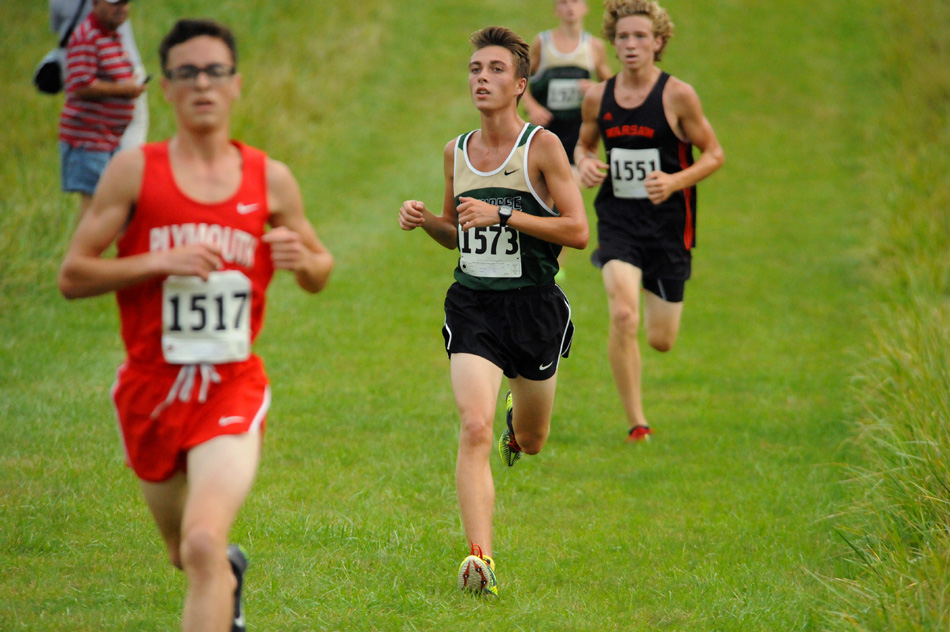 Wawasee's Spencer Hare tries to keep pace with Plymouth's WHO