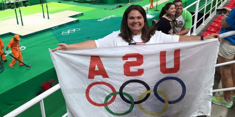 Photo of Kelly Day in Rio for the olympics. (Allison Coffin| Ball State at the Games)