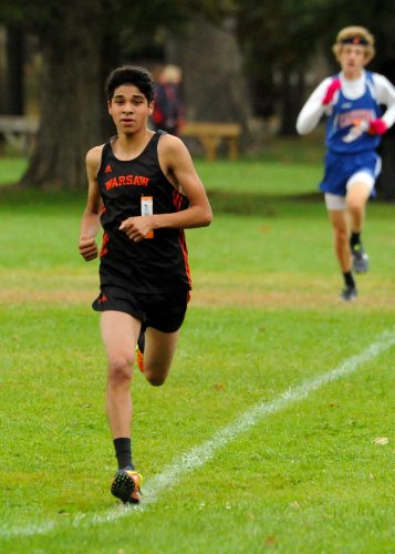 Warsaw sophomore Zeb Hernandez hopes to shine for the Tigers again this fall (File photo by Mike Deak)