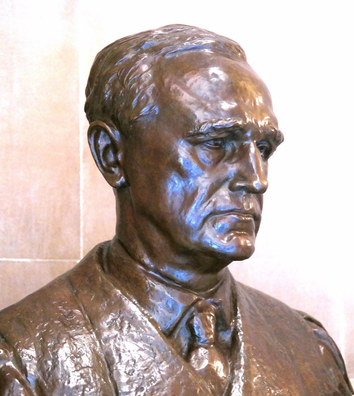 Shortly after Justice Minton's retirement from the Supreme Court in 1956, Gov. George N. Craig commissioned his bust to be placed on display at the Statehouse, 200 W. Washington Street, Indianapolis. Photo by Laura Harris.