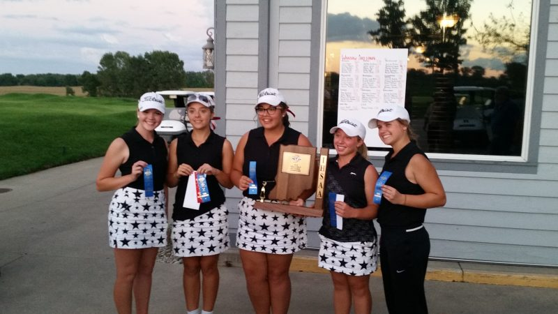 The NorthWood girls golf team shot 340 to win the Warsaw Sectional at soggy Stonehenge Golf Club on Saturday (Photo provided by Adam Yoder)