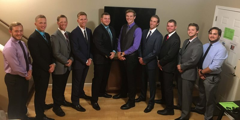 Photographed is CoolCorp founder Wesley Gensch with his current Grace College applied learning and internship students. Left to right are: Kyle Brunner, Chase Baker, Logan Swartzentruber, Austin Baker, Wesley Gensch, Jason Stevens, Logan Grigsby, John McCarty, Cole Helman and Peter Hoover.