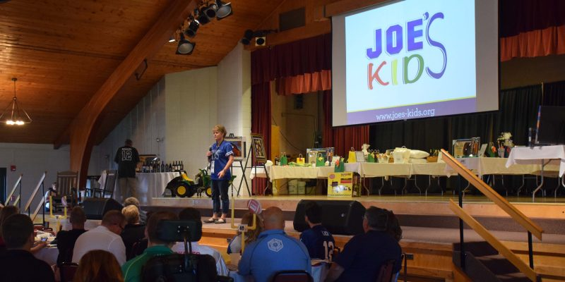 The whole evening was held to raise funds for Joe's Kids, a nonprofit organization providing physical, occupational and speech therapy for children with developmental delays.