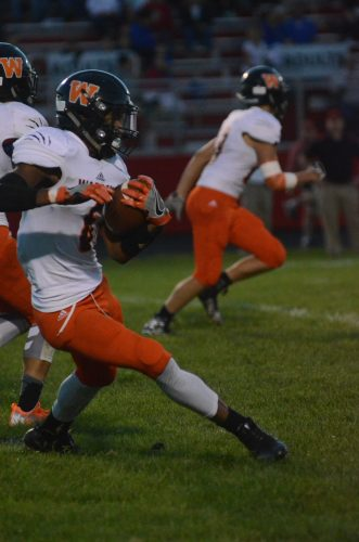 D'Andre Street makes a move during a kickoff return.
