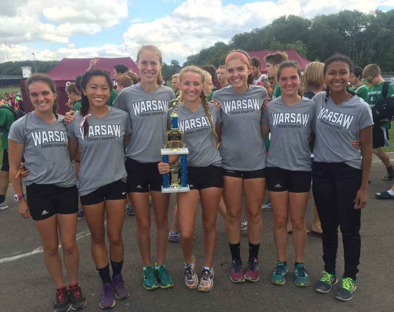 The No. 8 Warsaw girls cross country team placed second in the Large School Division at the New Prairie Invitational on Saturday (Photos provided by Matt Campbell)
