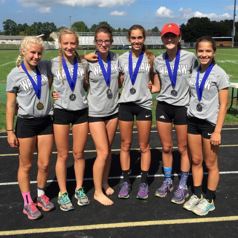 Six members of the Warsaw cross country team placed in the top 15 in the Reserve Race at New Prairie.