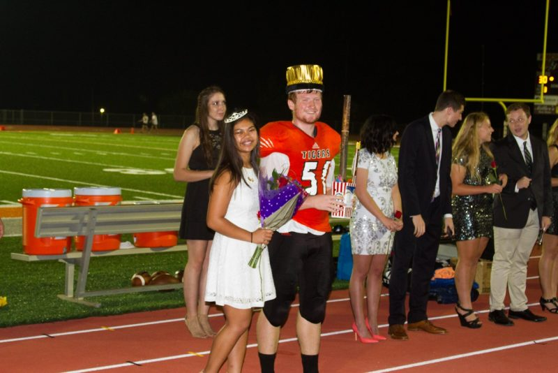 Alexis Ray and Ben Britton were crowned Homecoming Queen and King at Warsaw Friday night.