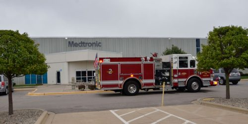 Warsaw Fire Department responded to a fire alarm at Medtronic