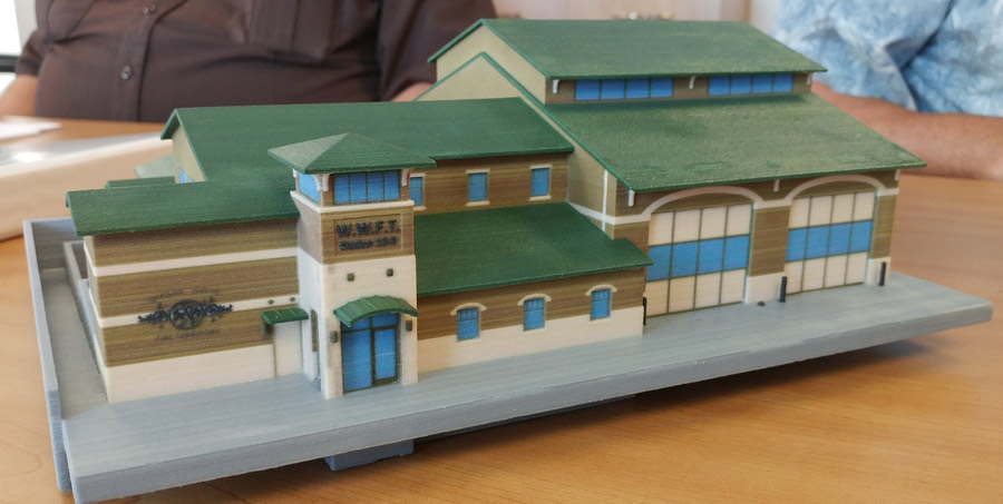 A 3-D model of the proposed Warsaw-Wayne Fire Territory Station 3 was shown to the territory board Tuesday.