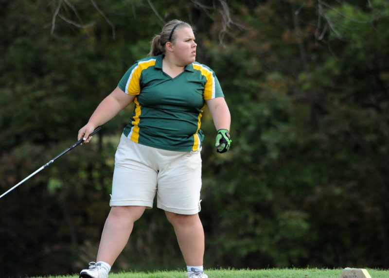 Tippecanoe Valley senior Victoria Biddle showed her character in dealing with a tough ruling that went against her on Saturday in the Warsaw Golf Sectional (File photo by Mike Deak)