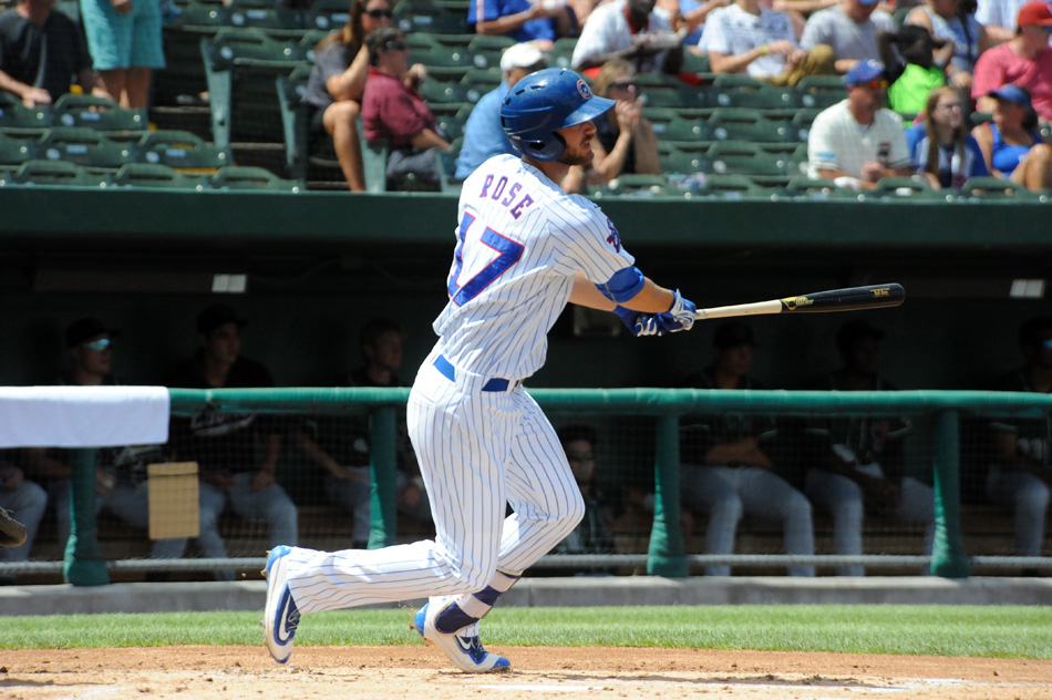 South Bend Cubs infielder Matt Rose was named the August Player of the Month in the Midwest League. (File photo by Mike Deak)