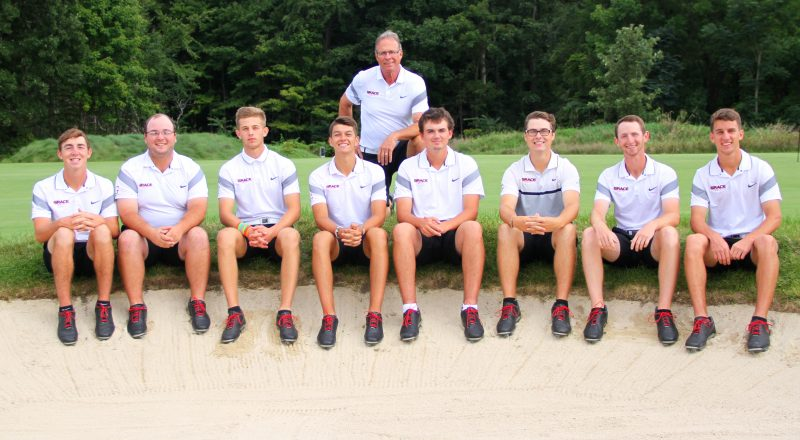 The Grace College men's golf team, coached by Denny Hepler, has earned a bid to the NCCAA National Championships (Photo provided by the Grace College Sports Information Department)