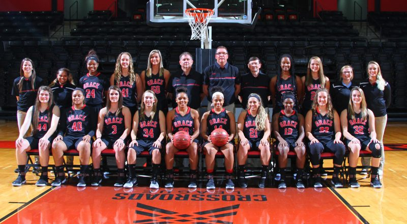 The Grace College women's basketball team will open its 2016-17 season by hosting Holy Cross on Oct. 22 (Photo provided by the Grace College Sports Information Department)
