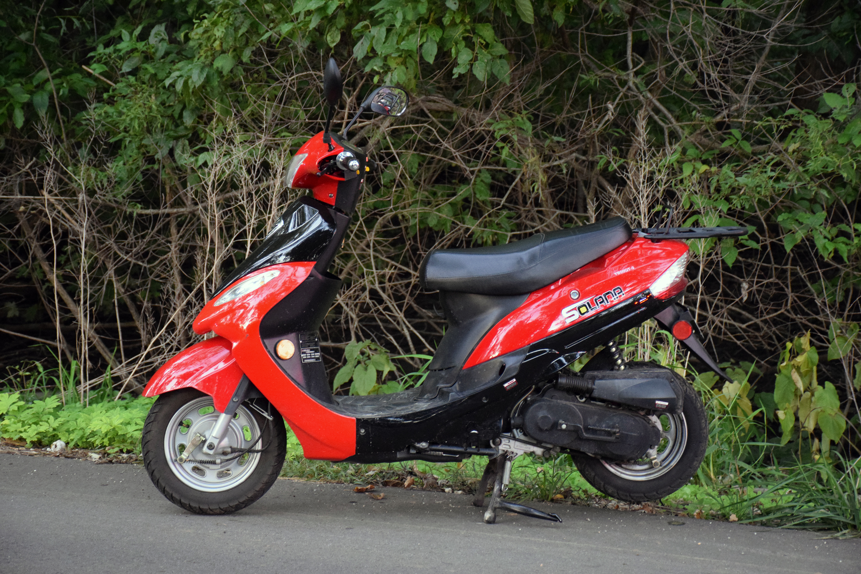 The moped involved in the accident.
