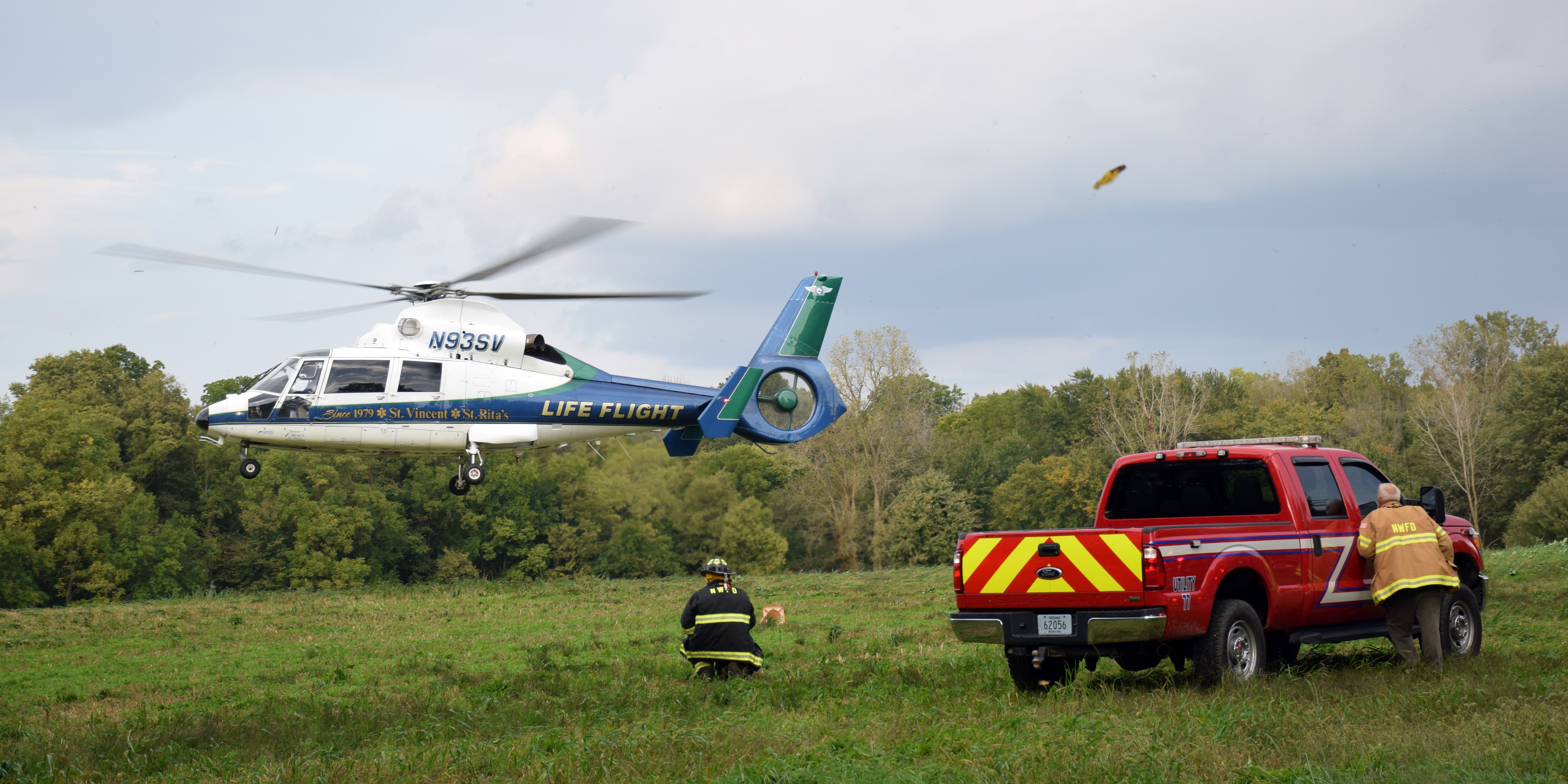 A Life Flight medical helicopter transported the moped driver from the scene.