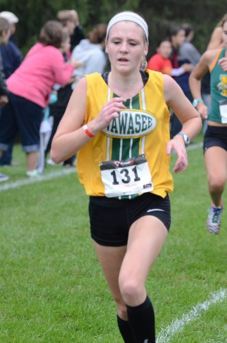 Sophomore Mckenzie Smith led Wawasee to a fifth-place finish in the regional Saturday at Ox Bow Park.
