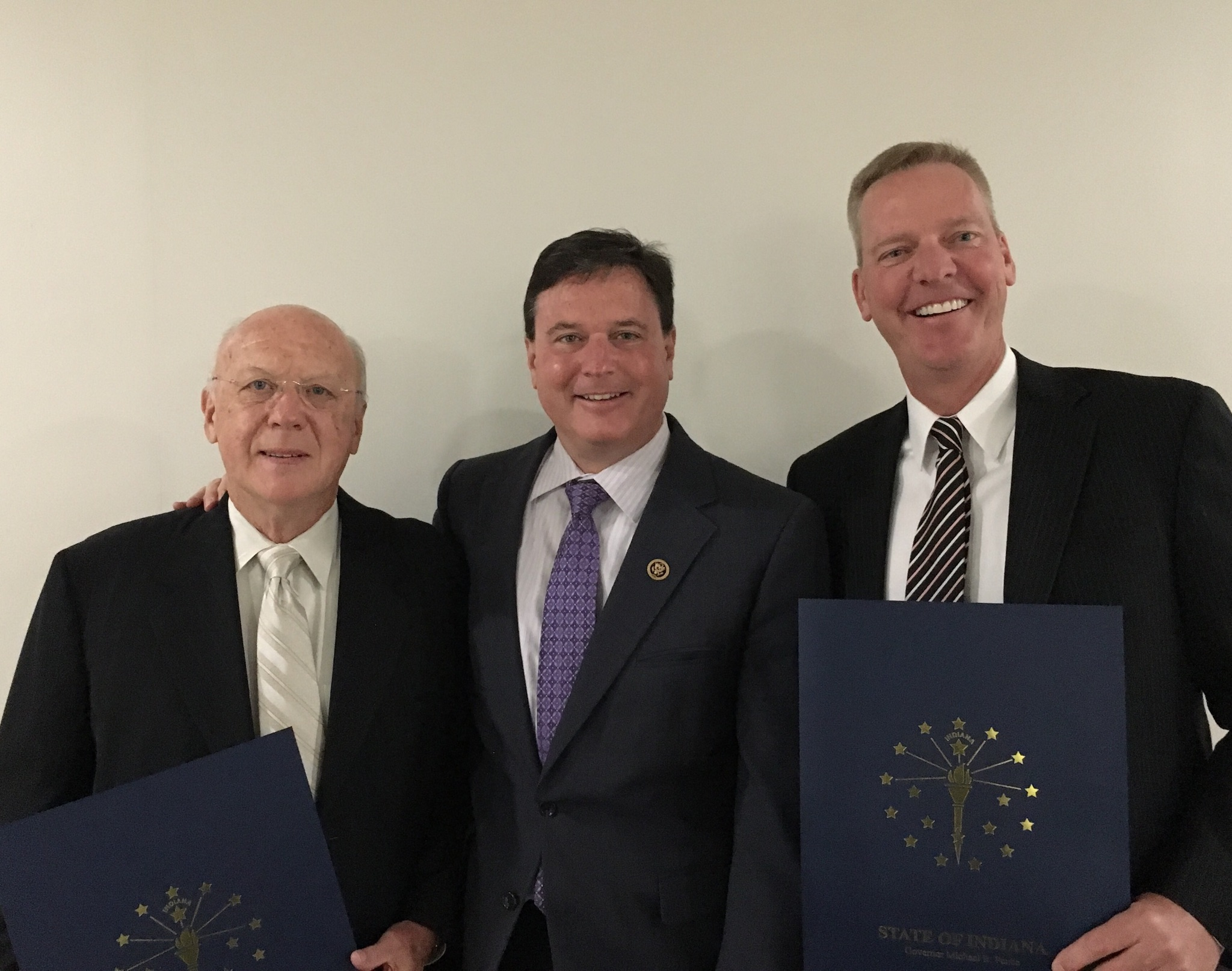 Dr. Ted Rokita, his son US Congressman Todd Rokita and Dr. Steven Hollar.