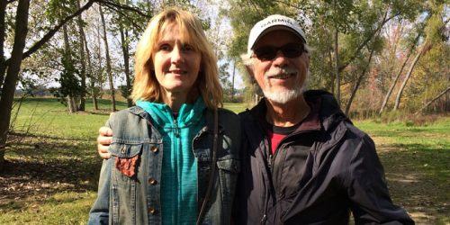 John and Barbara Sass of Crown Point took time on Saturday to participate in the Wawasee Area Conservancy Foundation's Falltastic Trail Walk. The Sasses also own a cottage in Oakwood.