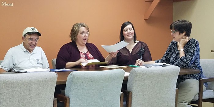 Pictured, from left, are Jerry Frush, Michelle Puckett, Sarah Fruit and Shelley Heckert.