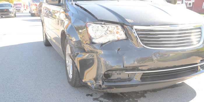 Front passenger damage to second vehicle.