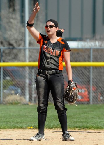 Warsaw senior Abby Glass has chosen Bethel College to continue her softball career. (File photo by Mike Deak)