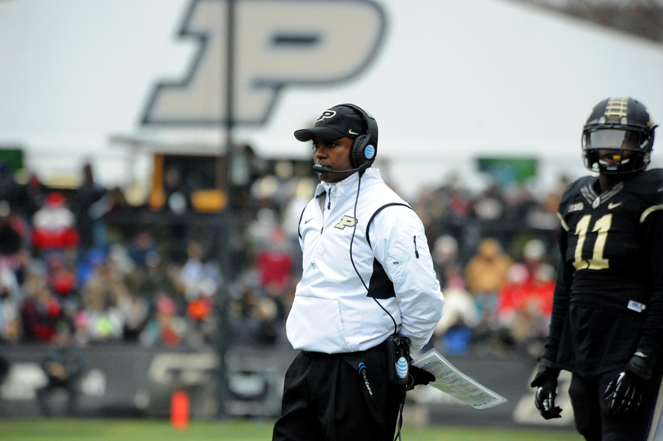 Darrell Hazell was fired from his head coaching position at Purdue Sunday afternoon. (File photo by Mike Deak)