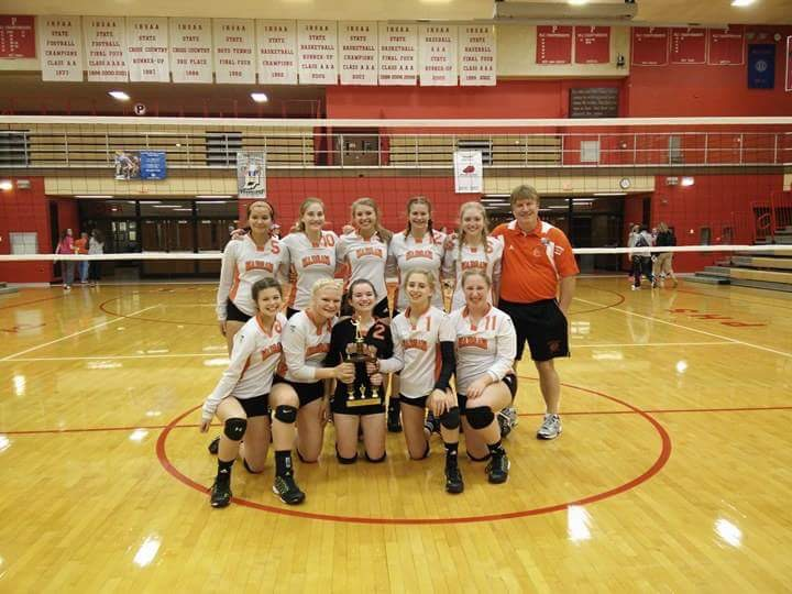 The Warsaw freshman volleyball team went 4-0 to win the NLC Invitational at Plymouth on Saturday. The frosh Tigers are ... on the season (Photo provided)