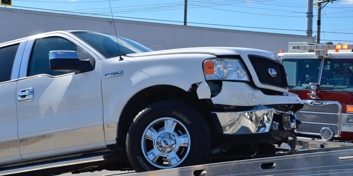The second vehicle sustained only front end damage.