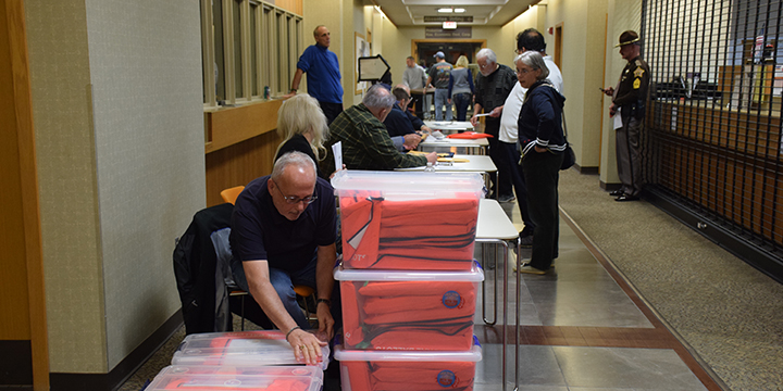The final precinct arrived at the Justice Building at 8:49 p.m.