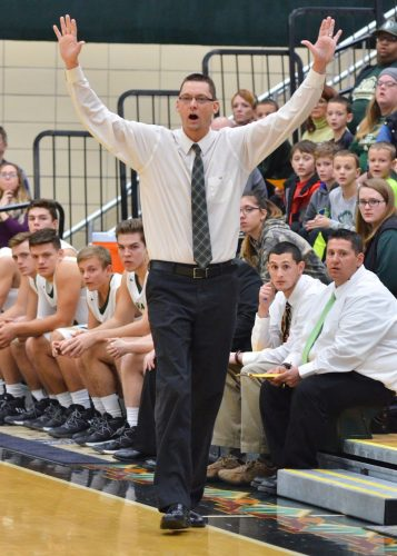First-year Wawasee head coach Jon Everingham helped guide the Warriors to a 48-39 victory in Tuesday's season opener. (Photos by Nick Goralczyk)