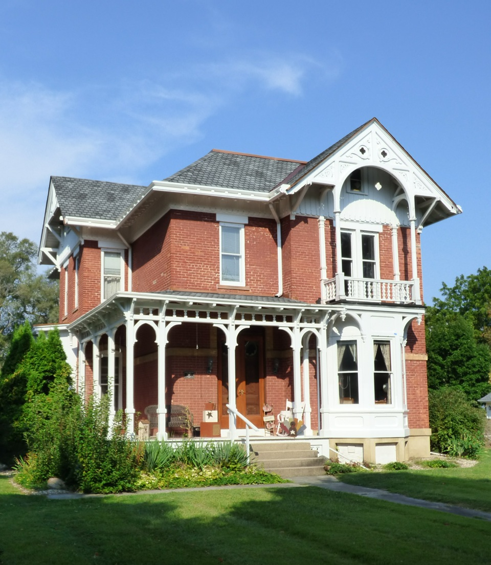 The Arnold House at 1003 North Main St. is one of five stately homes featured on The Bricks of Bourbon home tour Dec. 11.