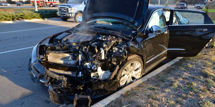 At least two children were in the vehicle and treated for minor injuries.