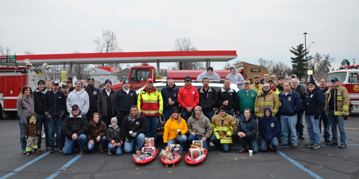 Fourteen Departments came together to donate to Toys for Tots.