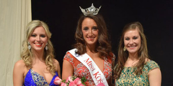 Miss Kosciusko County 2016 was awarded to Siera Updike. First runner-up was awarded to Katelin Vogel, left, and second runner-up was awarded to Jenna Schmidt, right.