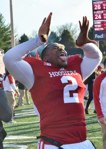 TJ Simmons and the Indiana Hoosiers football team will meet Utah in the Foster Farms Bowl on Dec. 28. (File photo by Nick Goralczyk)