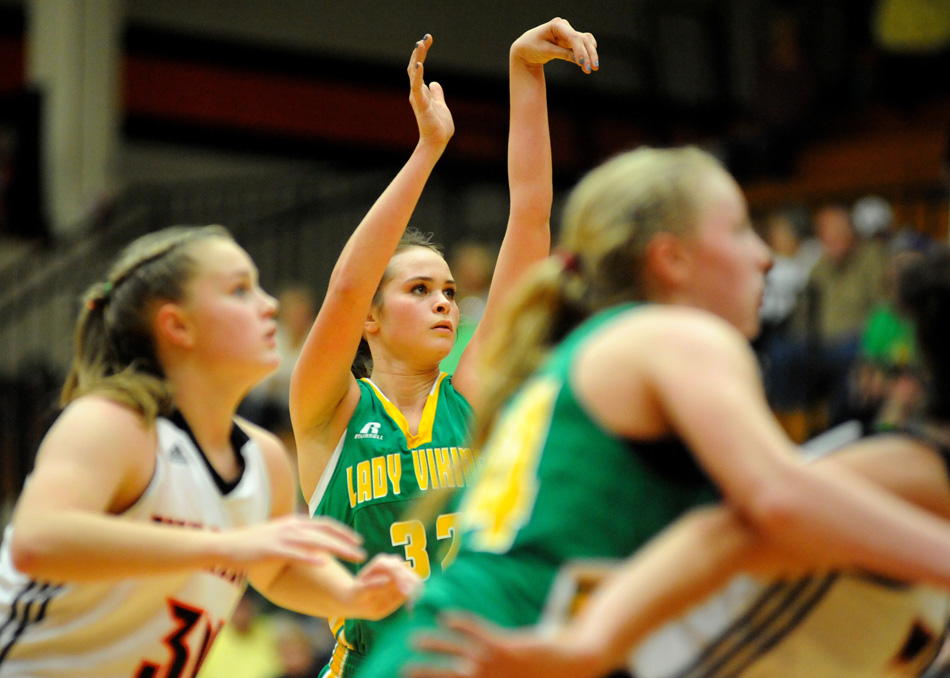 Emily Peterson and the Tippecanoe Valley Vikings will compete in the Hall of Fame Classic in New Castle on Dec. 29. (File photo by Mike Deak)