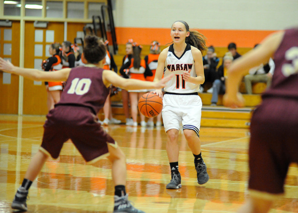 Warsaw's Mariah Rivera had one of the best games of her career in leading Warsaw to a 53-42 win over Columbia City Tuesday night. (Photos by Mike Deak)