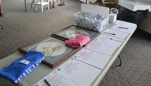 Auction items at the annual Stan Fox Memorial Silent Auction.