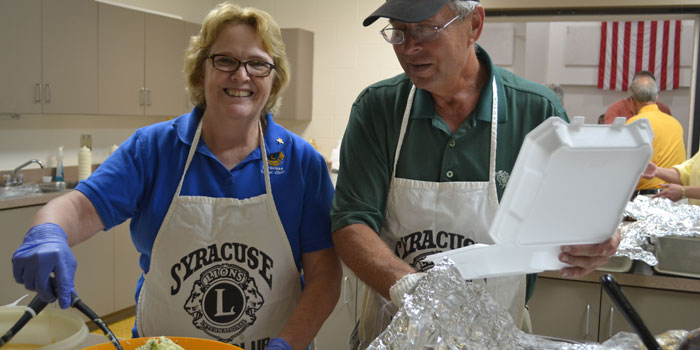 Marie Butler-Knight and Don Yoder at Syracuse Lions Fish Fry