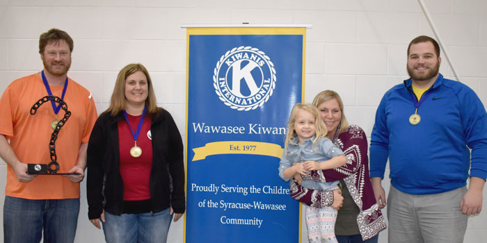 Lippert Components Team that won Wawasee Kiwanis Trivia Contest