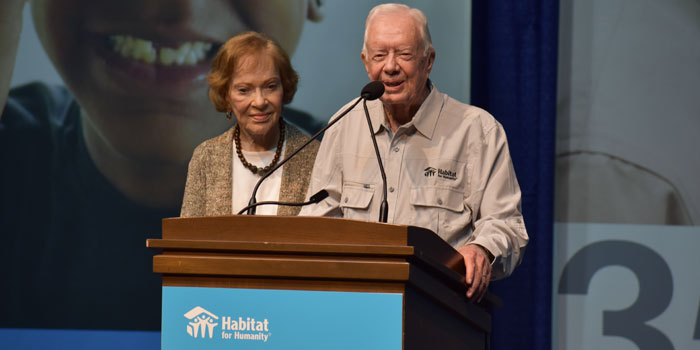 Rosalynn and Jimmy Carter speak in South Bend for Habitat for Humanity